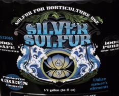 Colloidal SILVER SULFUR for Horticulture Use 1/2 Gal